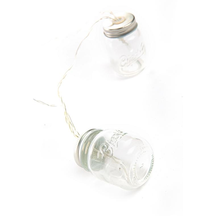Guirlande à mini ampoules avec 20 LED blanc chaud 1,90 m 662674