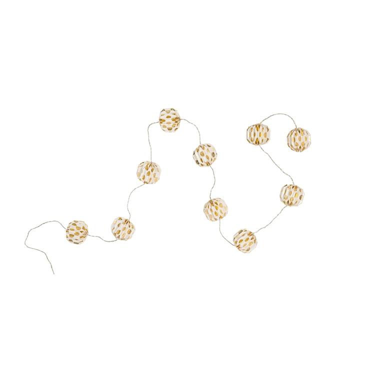 Guirlande Papier 10 boules 2,5 m 663253