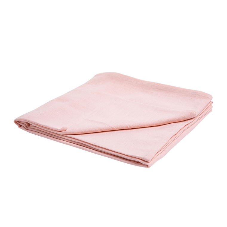 Nappe unie en coton rose 150x250 cm 663302