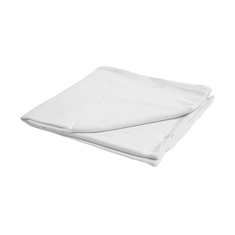 Nappe unie en coton blanc 150x250 cm 663308