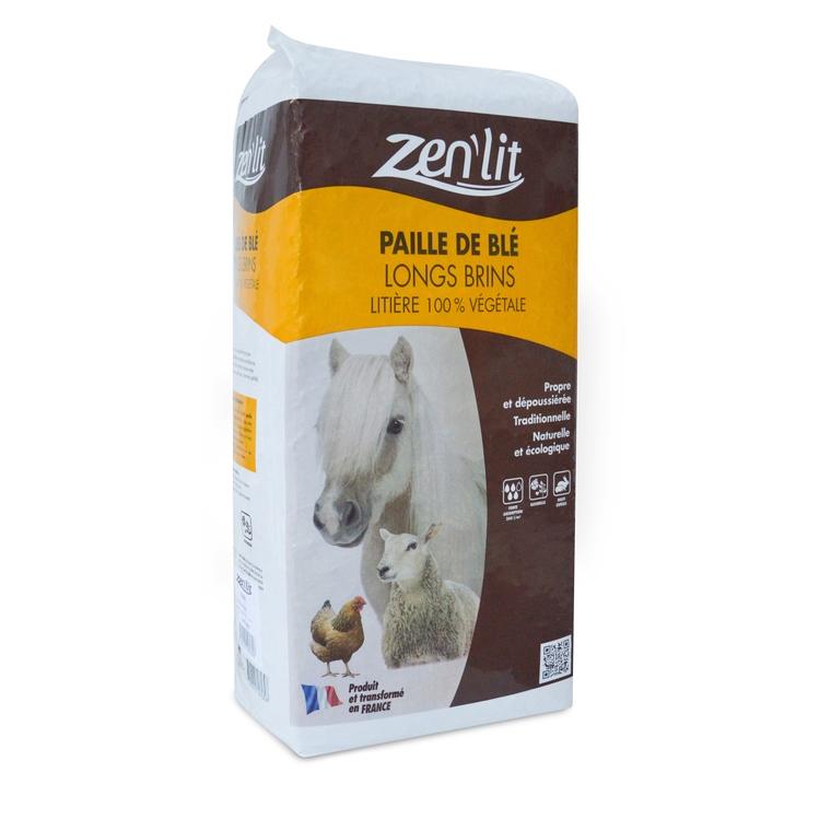 Paille de blé en brin long en sac de 9 kg 663535