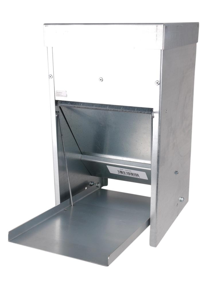 Mangeoire en acier galvanisé anti nuisible de 16 kg 663616