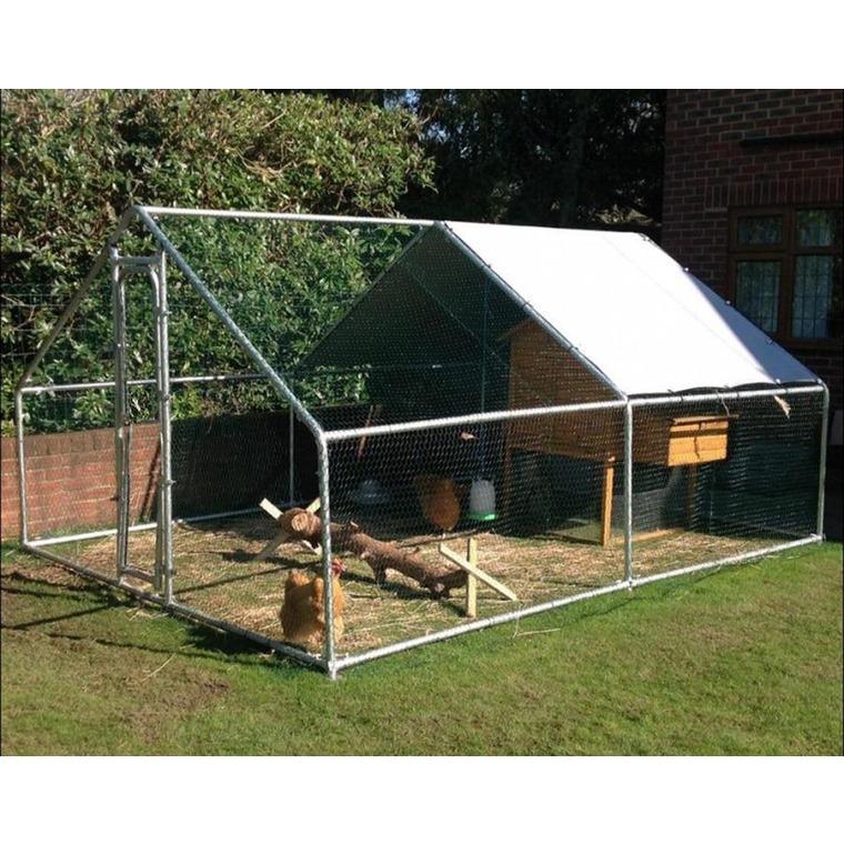 Enclos run volailles gris de 12 m² 663617