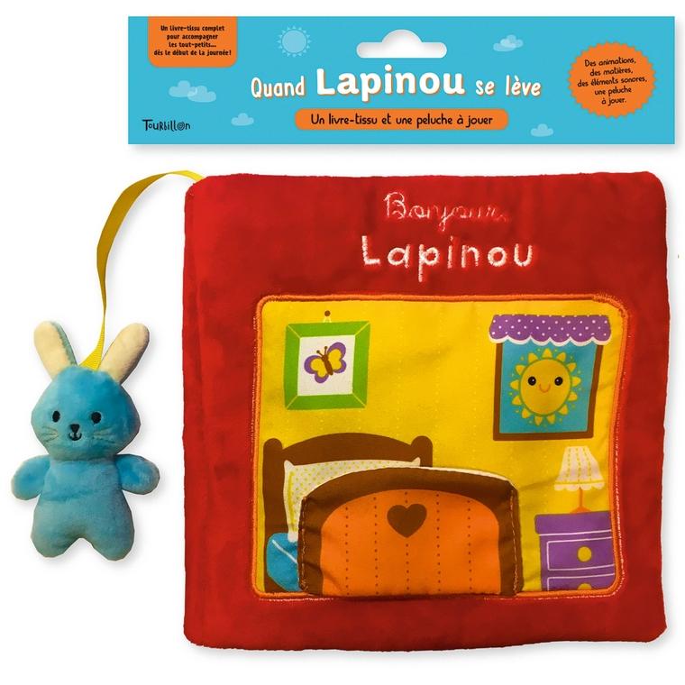 Bonjour Lapinou Livre Tissu dès 1 an Tourbillon 664017