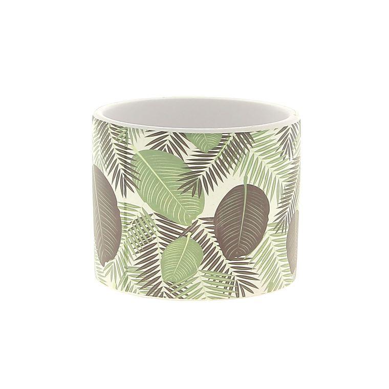 Cache-pot motif jungle Ø7,5xH6 cm 664579