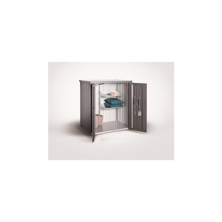 Armoire de terrasse Roméo Biohort taille L gris foncé métallique 132x87x140 cm 665523