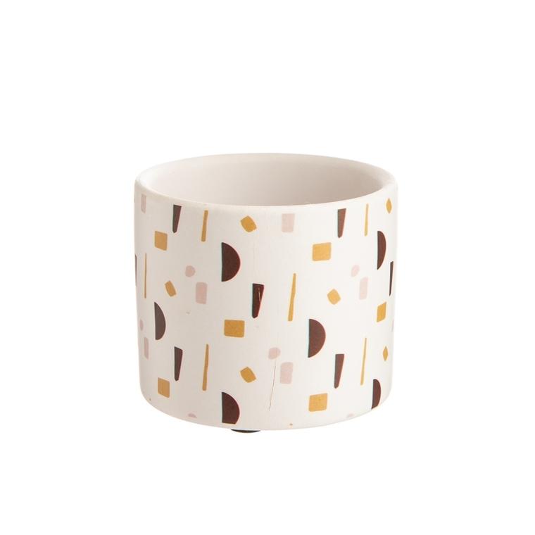Cache-pot Terrazo Ø 6 x H 6 cm Céramique 665651
