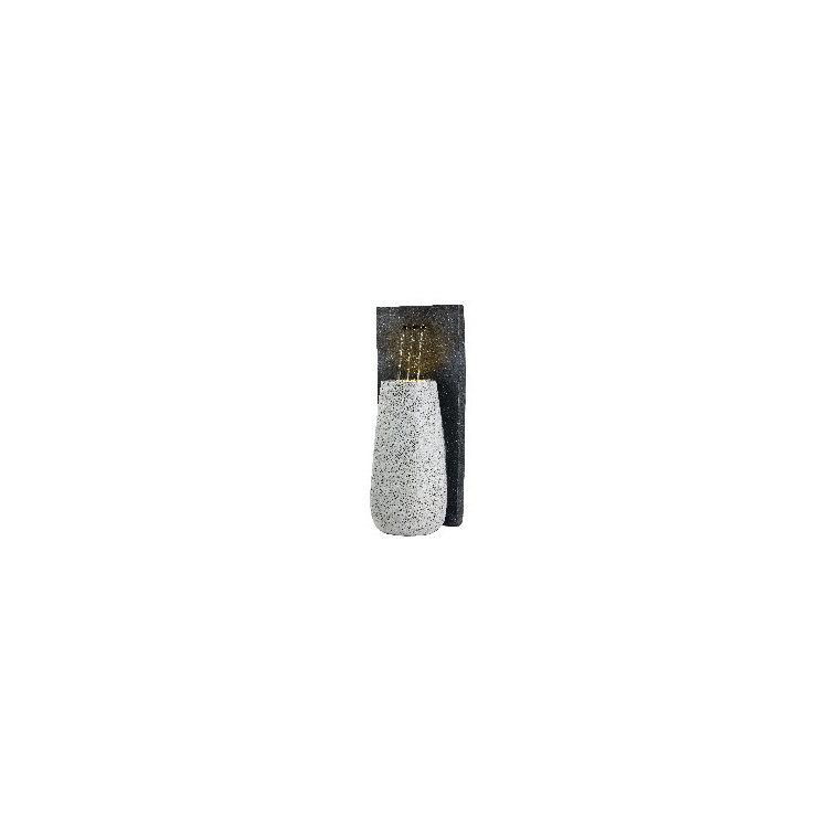 Fontaine LED avec pot et 3 tuyaux noir et blanc 32 x 37 x 91 cm 665778