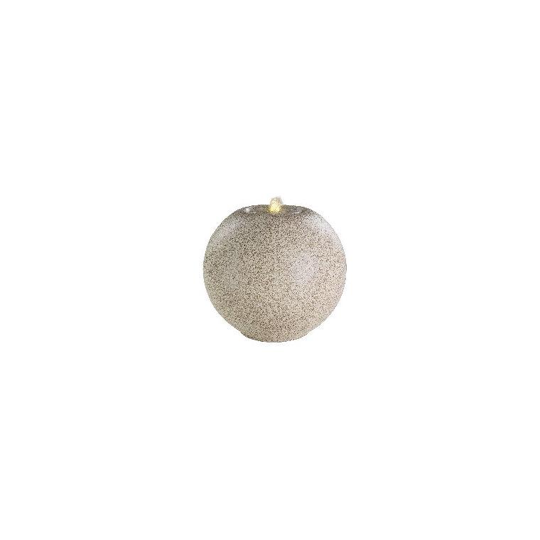 Fontaine LED en boule granit beige crème Ø 40 x 36 cm 665779
