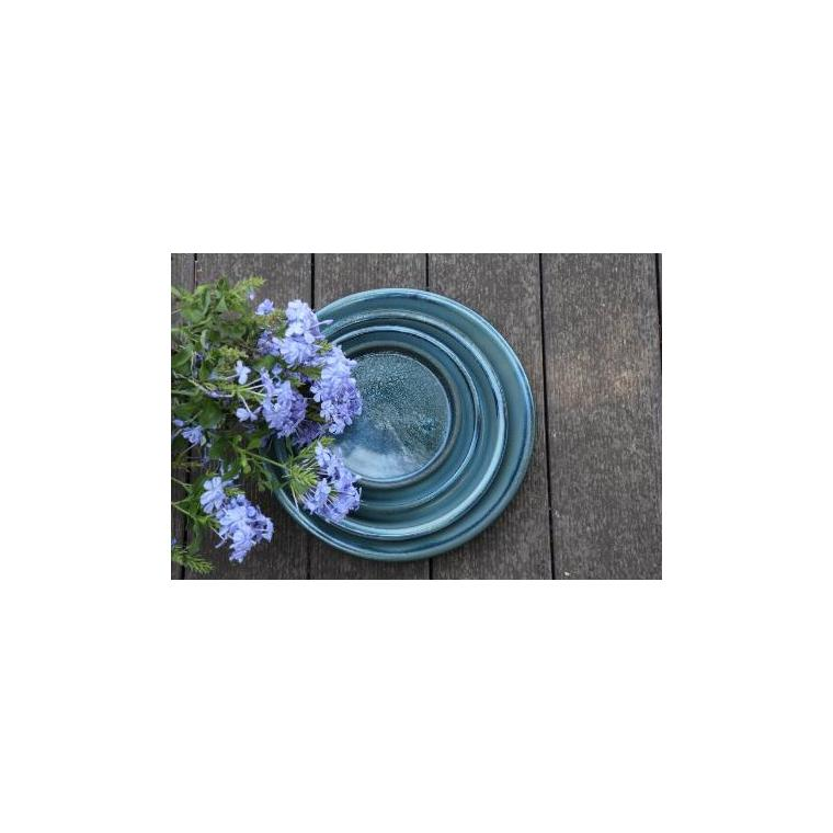 Soucoupe gamme Les poteries d'Albi coloris bleu Ø 18 x 3 cm 666722