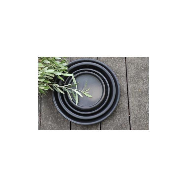 Soucoupe gamme Les poteries d'Albi coloris noir Ø 22 x 3 cm 666731