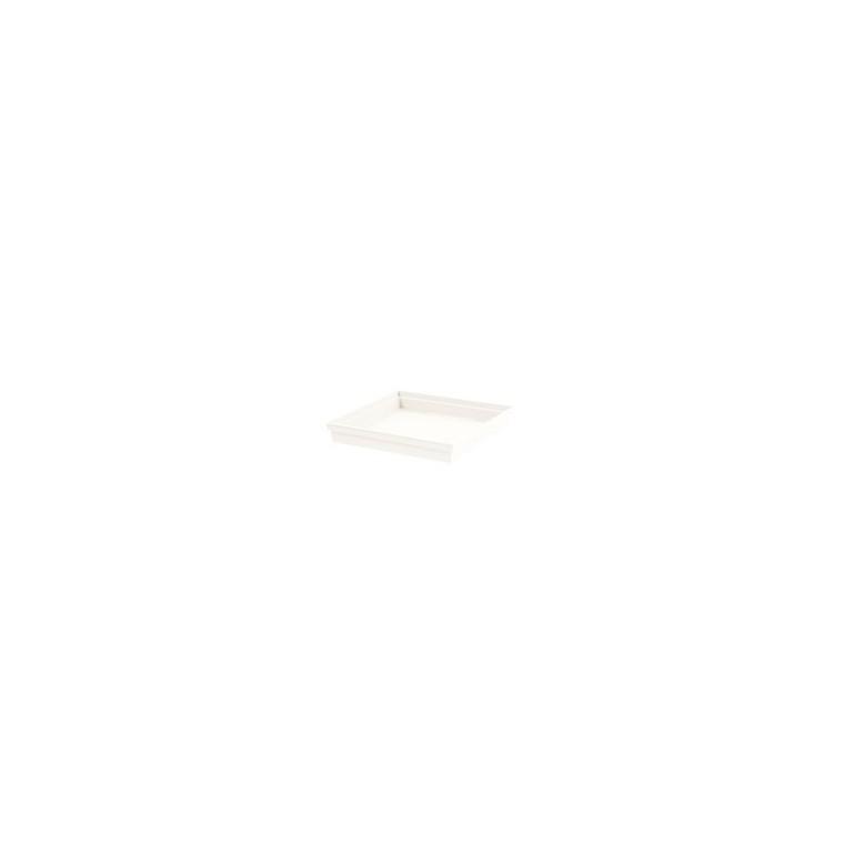 Soucoupe Toscane carrée coloris blanc 40 x 40 x 5,9 cm 667348