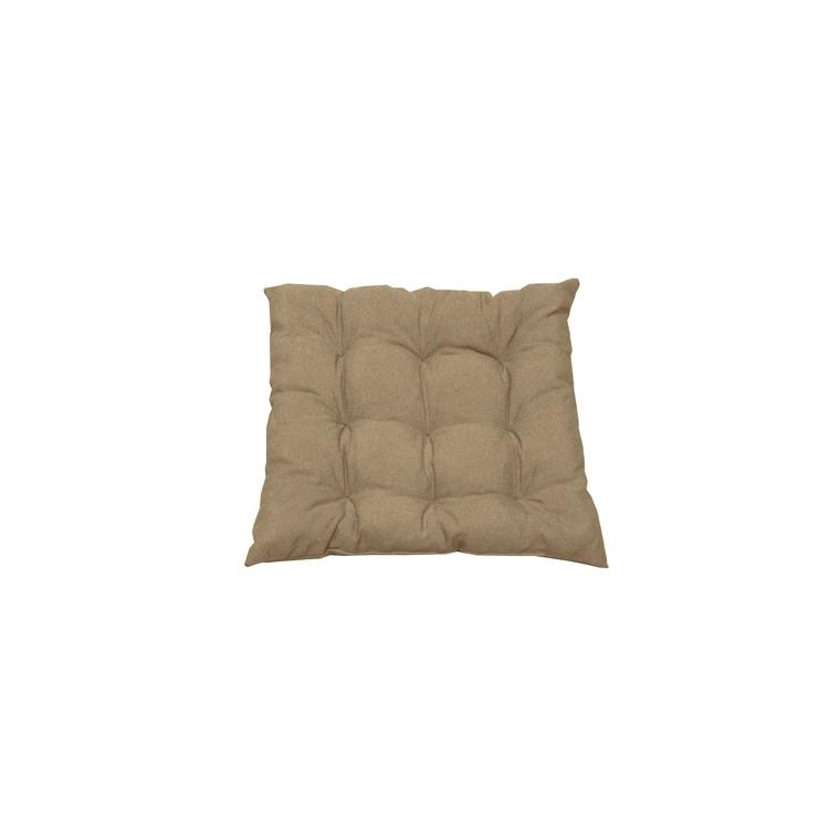 Assise matelassée Taupe – 46x46x6 cm 667481