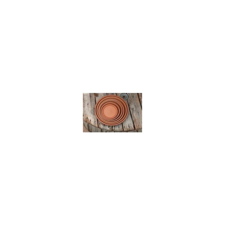 Soucoupe gamme Les poteries d'Albi coloris rouge Ø 22 x 3 cm 667583