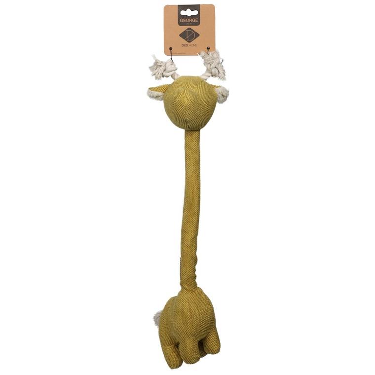 Jouet pour chien Georges Girafe en tissu jaune 30x22x10 cm 671870