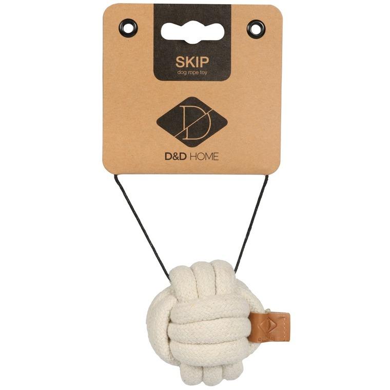 Balle en corde Skip beige taille XS Ø 10 cm 671878