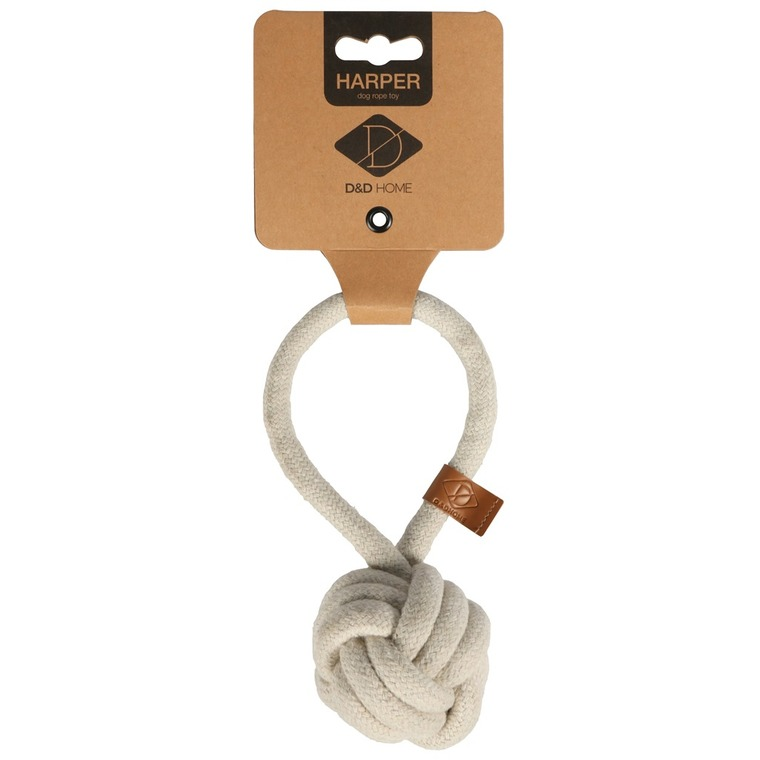 Corde balle et boucle Harper beige taille S Ø 10 x L 18,5 cm 671879