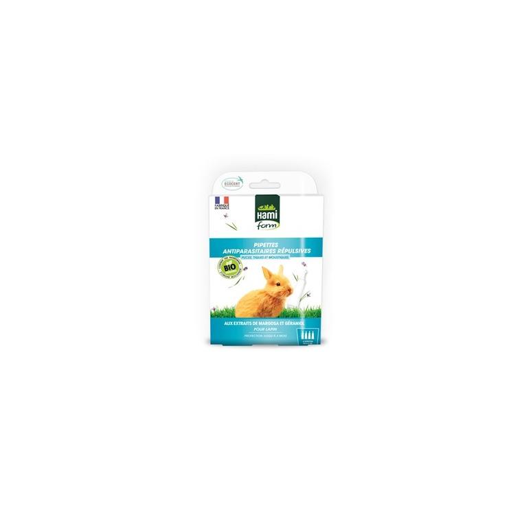 Pipette antiparasitaire Ecosoin bio pour lapin 4x0,3 ml 671899