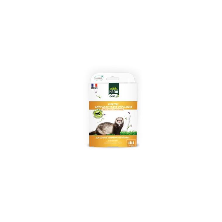 Pipette antiparasitaire Ecosoin bio pour furet 4x0,6 ml 671910