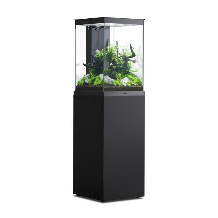 Aquarium avec meuble Tower noir L 40 x l 40 x H 60 + 85 cm 672364
