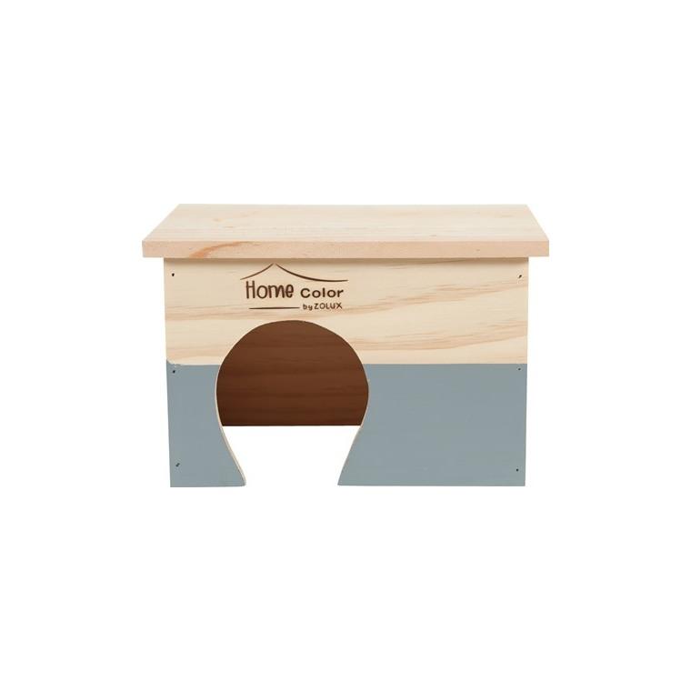 Maison en bois Home rectangle taille M gris 23,5x18,5x15 cm 672586