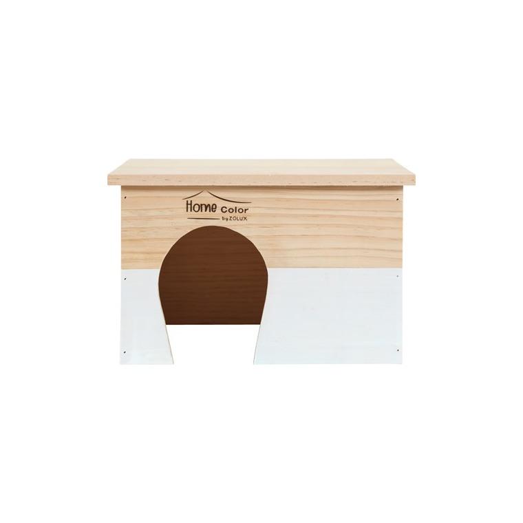 Maison en bois Home rectangle taille L blanc 28x23x17,5 cm 672587