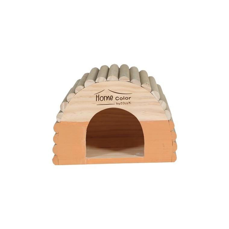 Maison en bois Home rond taille M orange 21x15x15 cm 672589