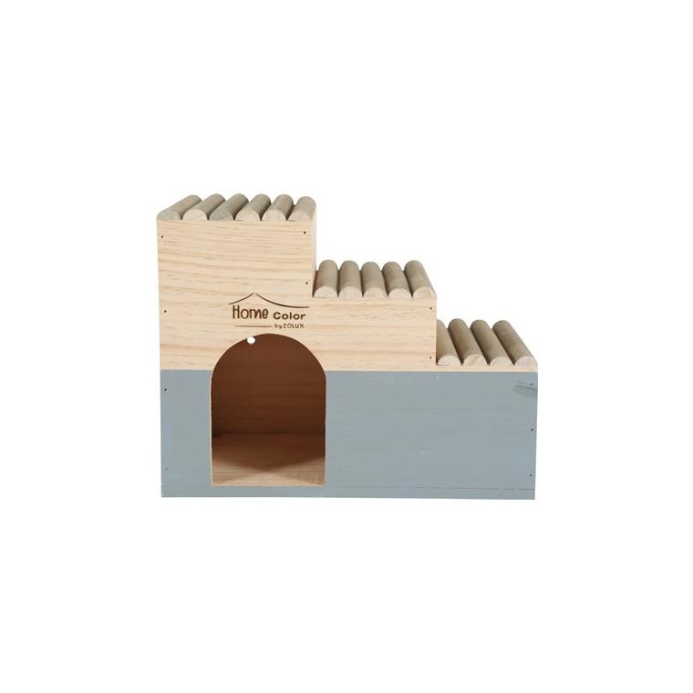 Maison en bois Home rond taille L gris x30x18x23,5 cm 672592
