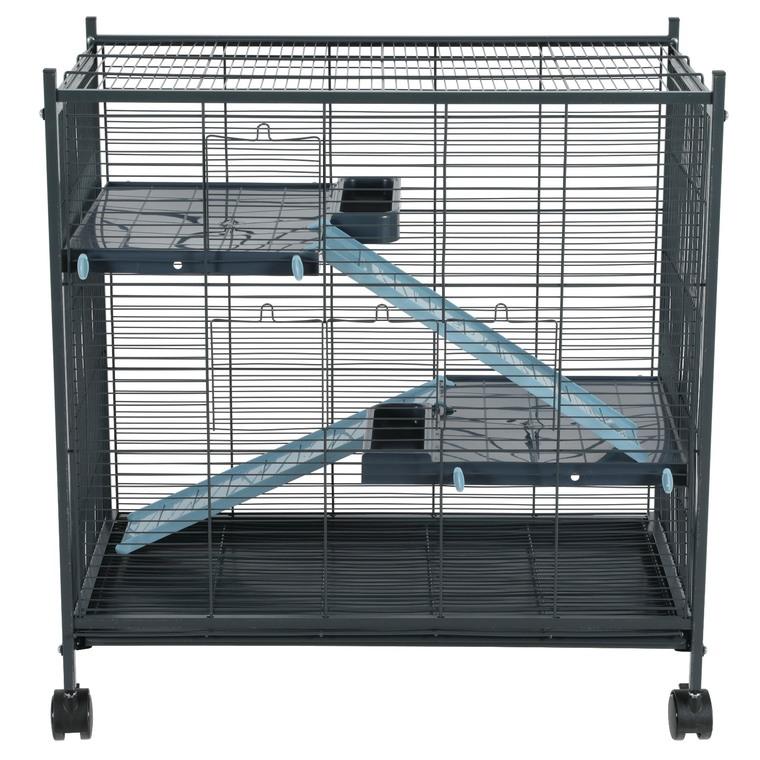 Cage Indoor 2 miniloft en métal gris et bleu clair 72x43x73 cm 672602