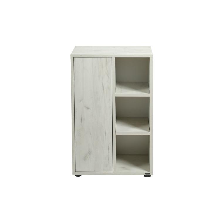 Meuble support pour aquarium Idro 50 en bois cérusé blanc 53x30x80 cm 672624