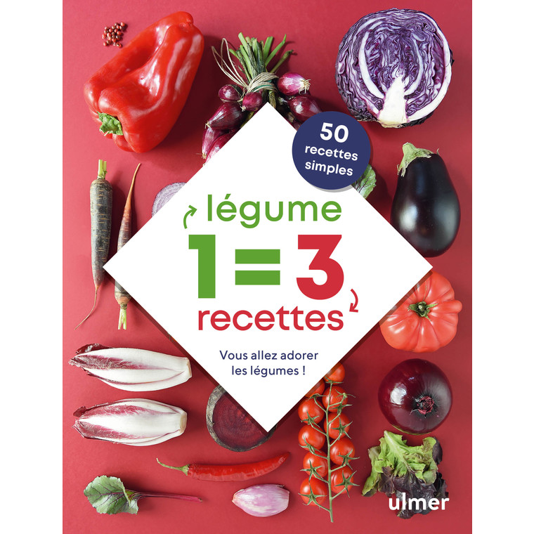 1 légume = 3 recettes simples aux éditions Ulmer 673277