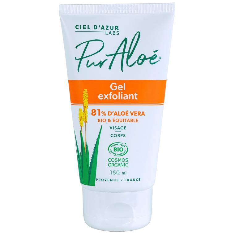 Gel Exfoliant Visage et Corps 81% Bio Vegan Pur Aloé 150ml  blanc 674829