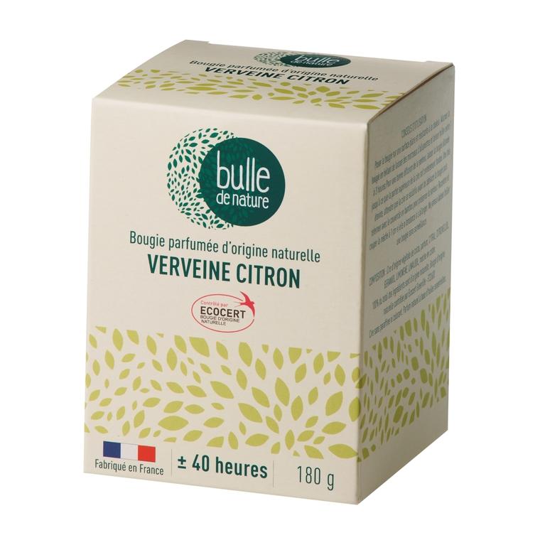 Bougie parfumée Verveine citron 180g bulle de nature 674850