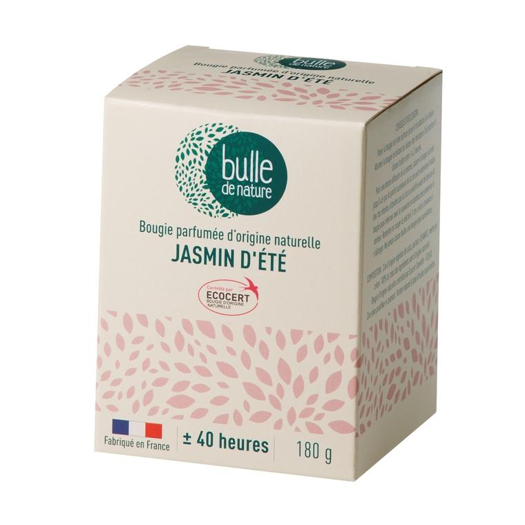 Bougie parfumée Jasmin d'été 180g bulle de nature 674854