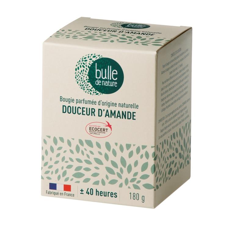 Bougie parfumée Douceur d'amandes 180g bulle de nature 674856