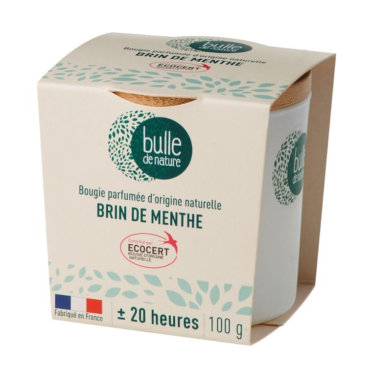 Bougie parfumée Brin de menthe 100g bulle de nature 674859