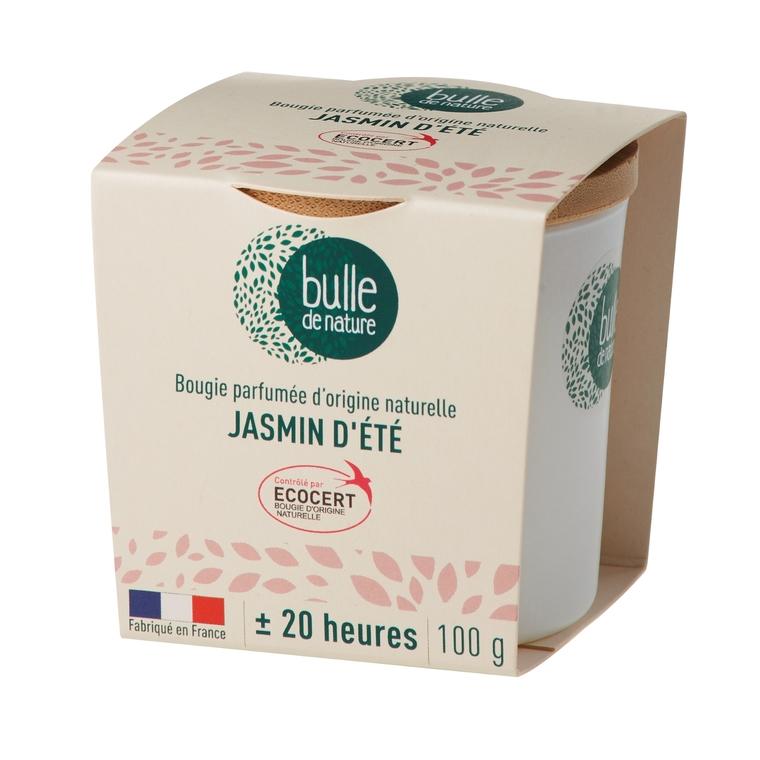 Bougie parfumée Jasmin d'été 100g bulle de nature 674862