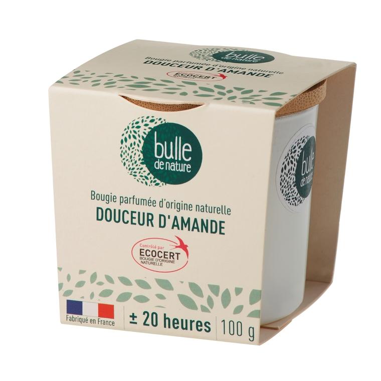 Bougie parfumée Douceur d'amandes 100g bulle de nature 674864