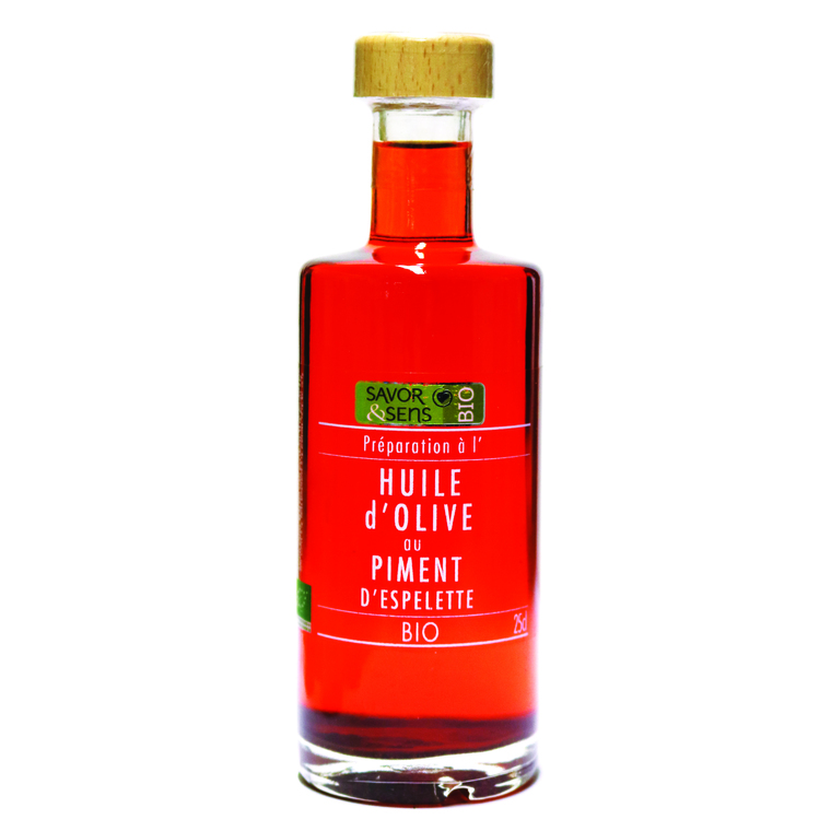 Huile d'olive au piment d'Espelette 25 cl 675784