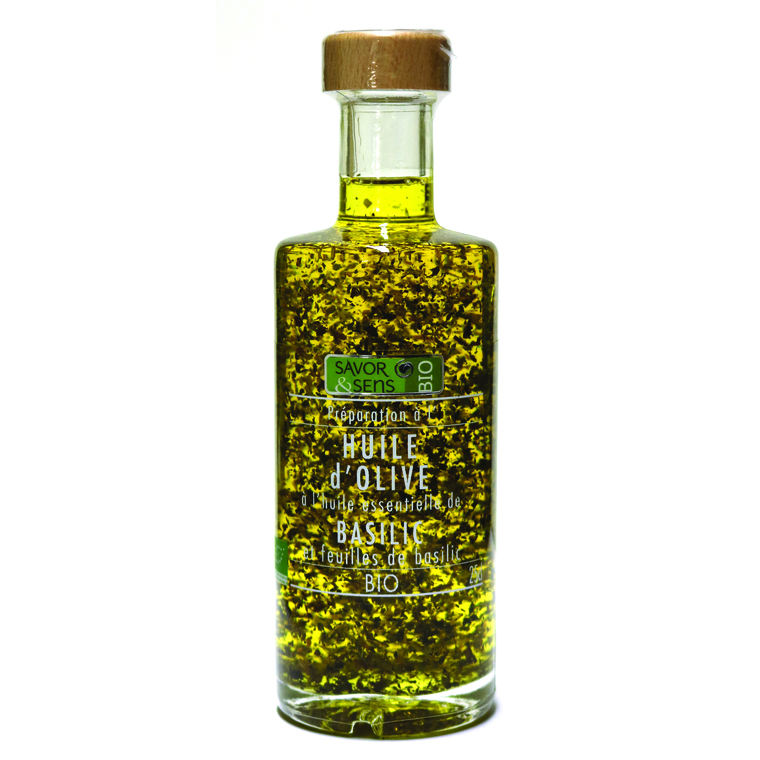 Huile d'olive au basilic 25 cl 675785