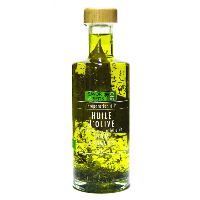 Huile d'olive au thym et romarin 25 cl 675788