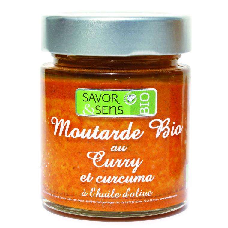 Moutarde bio au curry et curcuma 130 g 675808