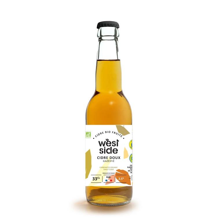 Cidre bio doux West side en bouteille de 33 cl 676230