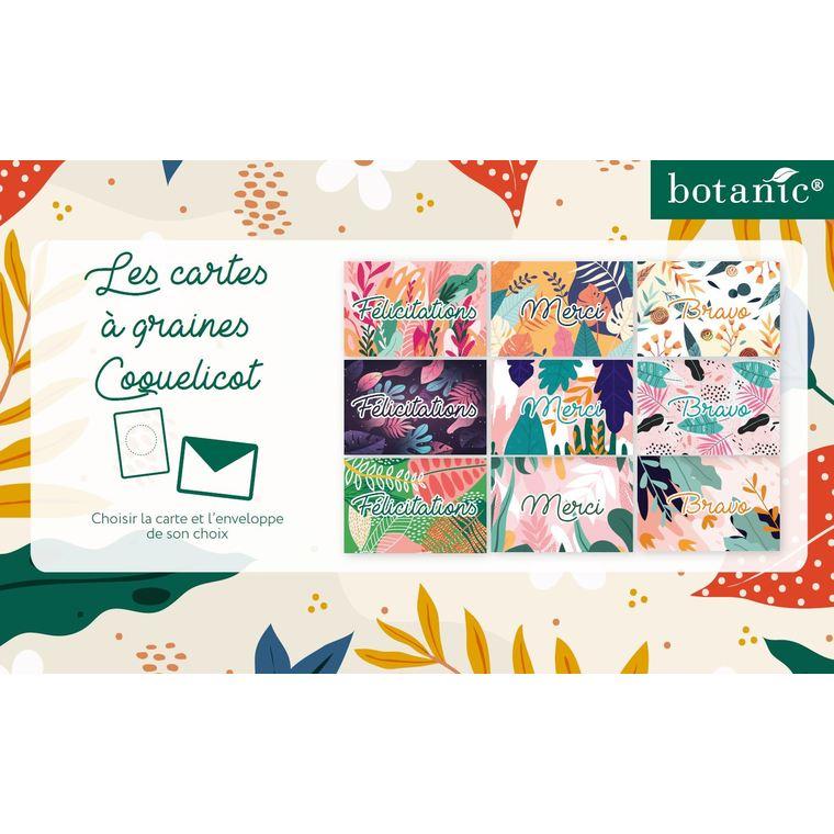 """Carte à planter botanic® avec message """"Félicitations"""" - graines de coquelicot 677163"""