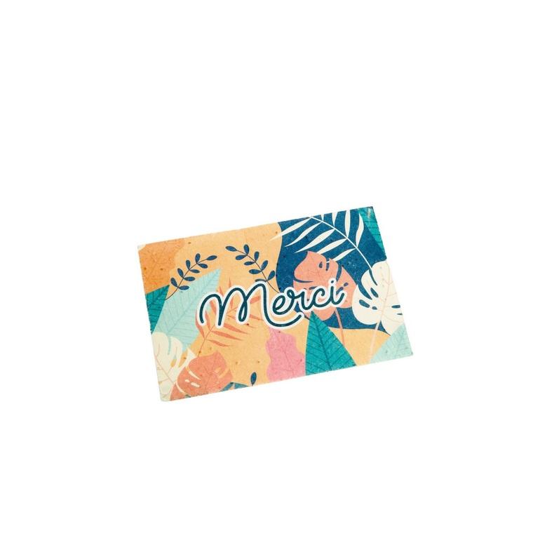 """Carte à planter botanic® avec message """"Merci"""" - graines de coquelicot 677166"""