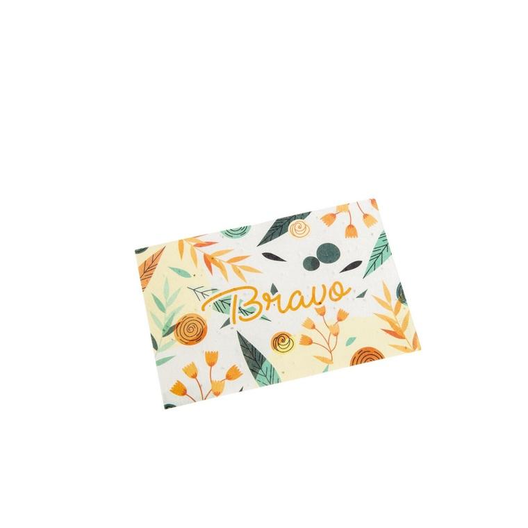 """Carte à planter botanic® avec message """"Bravo"""" - graines de coquelicot 677169"""