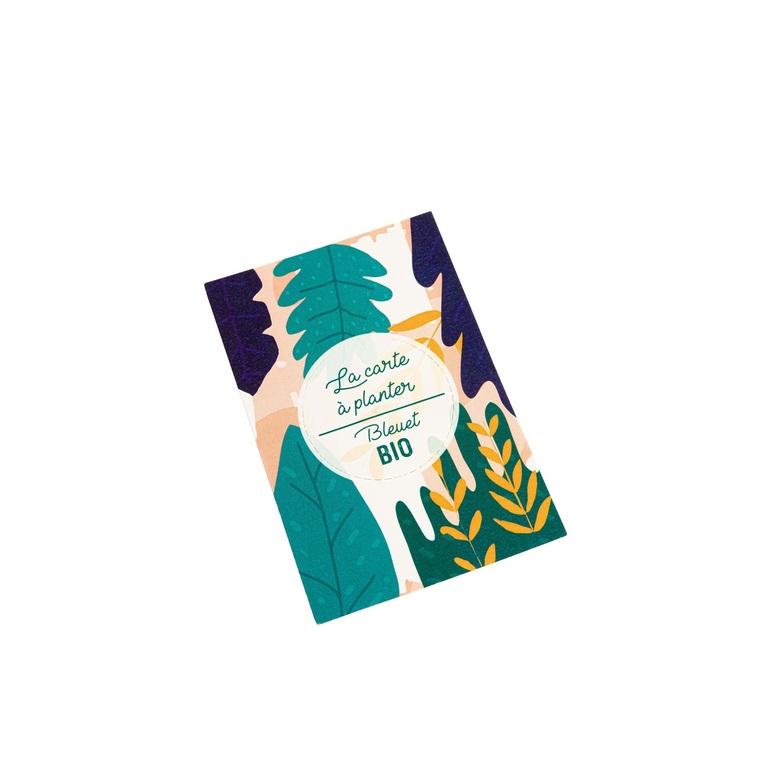 Carte à planter botanic® - graines de bleuet bio 677176