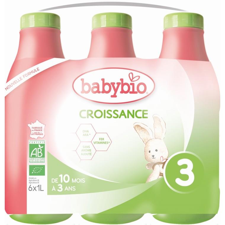 BABYBIO Croissance Liquide bio dès 10 mois – 6x1L 677278