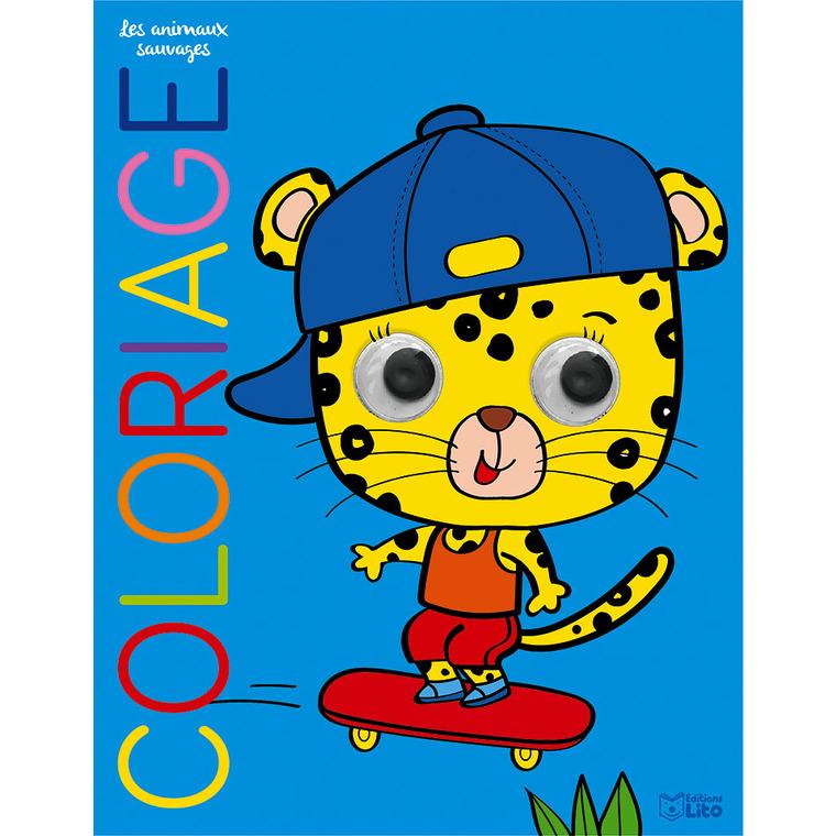 Coloriage les yeux qui bougent – Les animaux sauvages éditions Lito 677316