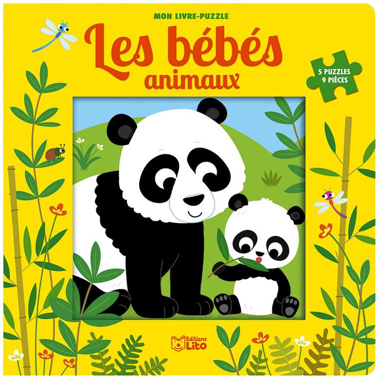 Mon livre puzzle – Les bébés animaux de 9 pièces éditions Lito 677326